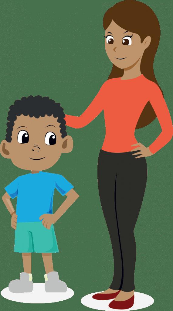 illustration family happy adults children